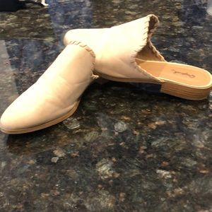 Nude mules Qpid barely used. 8